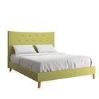Dedrick Linen Bed Color: Chartreuse, Size: Full
