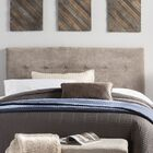 Merrow Upholstered Panel Headboard Size: Queen, Upholstery: Gray
