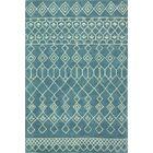 Bielecki Hand-Tufted Wool Azure Area Rug Rug Size: 7'6