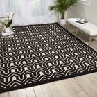Zopyros Black/Ivory Area Rug Rug Size: Rectangle 5'3