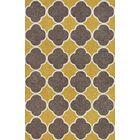 Mitchel Dandelion/Brown Area Rug Rug Size: Rectangle 3'6