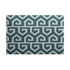Whit Geometric Print Teal Indoor/Outdoor Area Rug Rug Size: Rectangle 3' x 5'