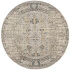 Sylvia Grey Area Rug Rug Size: Round 9'