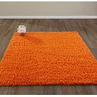 Bostrom Shag Orange Area Rug Rug Size: Rectangle 5' x 7'