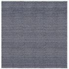 Arbuckle Cotton Navy Area Rug Rug Size: Square 8'