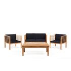 Tillman 4 Piece Sofa Seating Group with Cushions Frame Finish: Brown