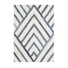 Carty Hand-Tufted Blue/Ivory Area Rug Rug Size: 8' x 10'