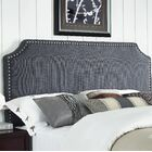Luna Upholstered Panel Headboard Size: King / California King, Upholstery: Graphite