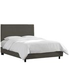 Kovach Upholstered Panel Bed with Mattress Size: Queen, Color: Linen - Charcoal