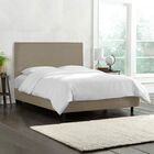 Kovach Upholstered Panel Bed with Mattress Size: Queen, Color: Velvet - Gray
