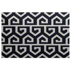 Frankie Geometric Print Navy Blue Indoor/Outdoor Area Rug Rug Size: Rectangle 5' x 7'