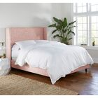 Alrai Upholstered Panel Bed Size: King, Color: Zuma Rosequartz