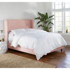 Alrai Upholstered Panel Bed Size: King, Color: Zuma Rosequartz