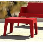 Bence Plastic Coffee Table Finish: Red