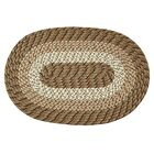 Braided Stripe Taupe/Beige Area Rug Rug Size: Rectangle 5'4
