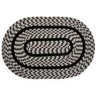 Crescent Braided Black Indoor/Outdoor Area Rug Rug Size: Rectangle 5' x 8'