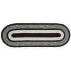 Portland Wool Braid Green Area Rug Rug Size: Oval 5' x 7'