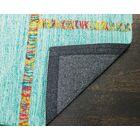 Flatweave Hand-Woven Blue Area Rug Rug Size: Rectangle 8' x 10'
