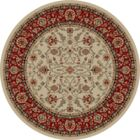 Hometown Classic Keshan Antique Area Rug Rug Size: Round 8'