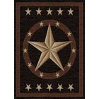 Hearthside Western Star Ebony Area Rug Rug Size: Rectangle 5'3