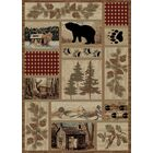 American Destinations Beige/Red Area Rug Rug Size: Rectangle 4' x 6'