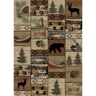 American Destinations Beige/Brown Area Rug Rug Size: Rectangle 8' x 10'