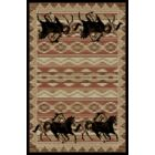 Lodge King Black Area Rug Rug Size: 7'10