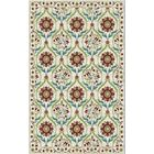 Brighton Cream/Red Area Rug Rug Size: 7'10