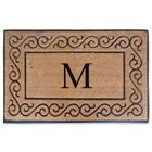 First Impression Monogrammed Double Doormat Letter: M