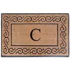 First Impression Monogrammed Double Doormat Letter: C