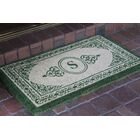 Filigree Decorative Border Monogrammed Doormat Letter: S