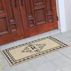 Bradford Anti Shred Treated Non-Skid Entry Monogrammed Double Doormat Letter: R