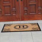 Hedvige Anti Shred Treated Non-Skid Monogrammed Entry Doormat Letter: B