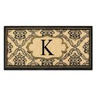 First Impression Engineered Anti Shred Treated Uriel Monogrammed Doormat Letter: K