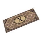 First Impression Gayle Ogee Doormat Letter: X