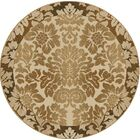 Gabrielson Ivory Area Rug Rug Size: Round 8'