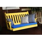 Traditional English Porch Swing Color: Lemon Yellow