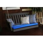Traditional English Porch Swing Color: Black