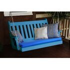 Traditional English Porch Swing Color: Blue