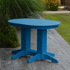 Nettie Dining Table Color: Blue, Table Size: 60