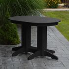 Nettie Dining Table Color: Black, Table Size: 72