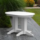 Nettie Dining Table Color: White, Table Size: 48