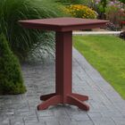 Nettie Bar Table Color: Cherrywood, Table Size: 44