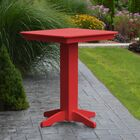 Neville Bar Table Color: Bright Red, Table Size: 44