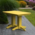 Nettie Dining Table Color: Lemon Yellow, Table Size: 48