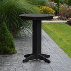 Nettie Bar Table Color: Black, Table Size: 44