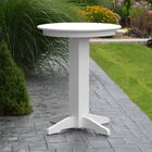 Nettie Bar Table Color: White, Table Size: 33