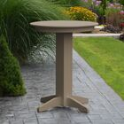 Nettie Bar Table Color: Weathered Wood, Table Size: 44