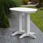 Nettie Bar Table Color: White