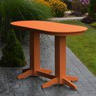 Nettie DiningTable Color: Orange, Table Size: 60
